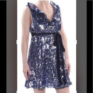 Free People Women's Sequined Mini Party Dress